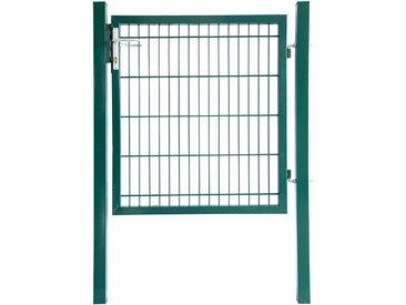 Home Deluxe Doppelstabmatten Gartentor grün - Gartentor - Höhe: 1000 mm