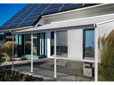 Home Deluxe Terrassenüberdachung 618 x 303 x 226 / 278 cm (Weiß)