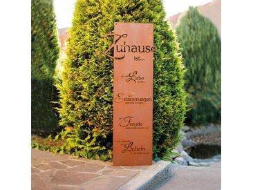 Home Deluxe Rost Gartenschild SWEET HOME