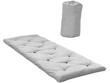 Bed in a Bag Farbe Hellgrau Schlafmatte Futon 70 x 190 cm mit Tasche