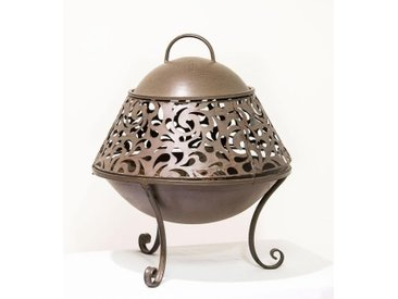 Deko Feuerkorb San Miro aus Eisen Dunkelbraun