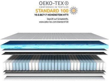 AM Qualitätsmatratzen   7 Zonen Gelschaum-Taschenfederkernmatratze H3 - 200 x 200 cm