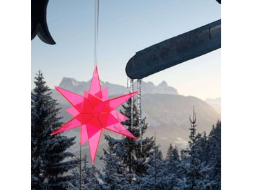Estrella Sonnenfänger 3D Stern schwebend Cazador-del-Sol® rot