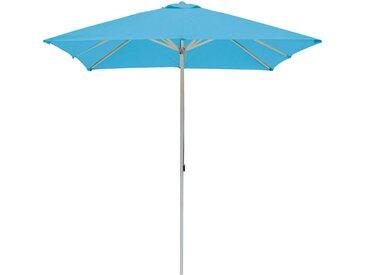 ikarus Alu-Sonnenschirm rund mit Seilzug ohne Schirmständer hellblau