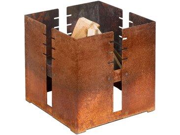 Keilbach Designprodukte Fidibus Feuerkorb grau