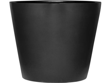 amei Stonefiber Pot Blumentopf rund schwarz