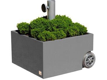 XXD Flowerpower Bepflanzbarer Schirmständer grau