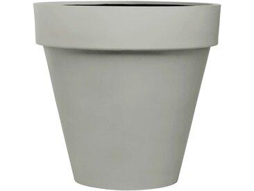 amei Stonefiber Pot mit Rand Blumentopf grau