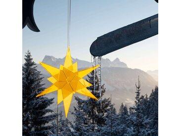 Estrella Sonnenfänger 3D Stern schwebend Cazador-del-Sol® gelb