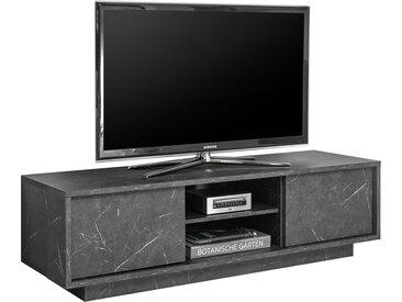 TV-Schrank mit schwarzem Marmor-Effekt 138cm CARRA