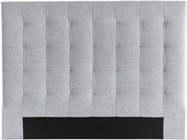 Bettkopfteil gepolstert grauer Stoff 140 cm HALCIONA