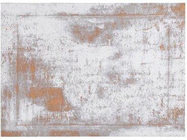 Used-Effekt-Teppichboden in Gold und Elfenbein mit gewebtem Muster 160 x 230 cm - ASTRA