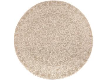 Runder Teppich 160 cm Natural MOZAIC