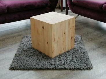Beistelltisch Wohnzimmertisch Vollmassiv Holzwürfel Kiefer natur belassen