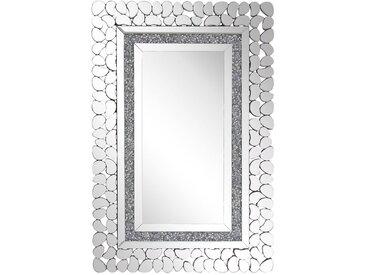 Wandspiegel silber 60 x 90 cm PABU