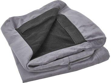 Sofabezug für 2-Sitzer BERNES Samtstoff grau
