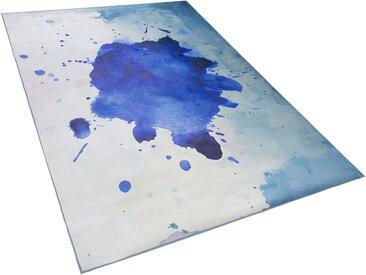 Teppich blau Flecken-Muster 140 x 200 cm ODALAR