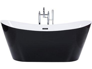 Badewanne freistehend schwarz oval 170 cm ANTIGUA