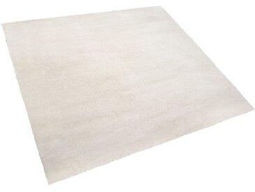 Teppich weiß 200 x 200 cm Shaggy EVREN
