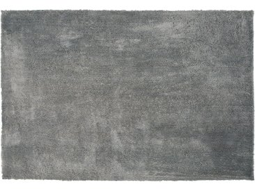 Teppich hellgrau 140 x 200 cm Shaggy EVREN
