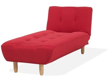 Chaiselongue rot verstellbar ALSTEN