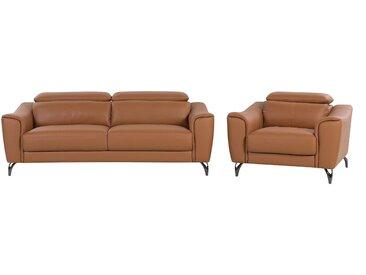 Sofa Set Leder Goldbraun 4-Sitzer NARWIK
