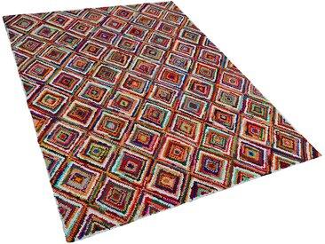 Teppich bunt 160 x 230 cm Hochflor KAISERI