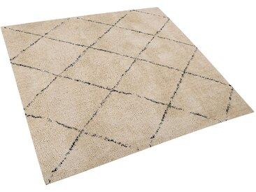 Teppich beige/schwarz 200 x 200 cm Shaggy MUTKI