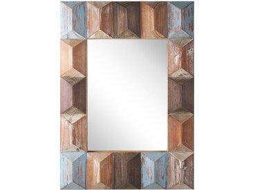 Wandspiegel Holz bunt rechteckig 63 x 90 cm HIZOTE