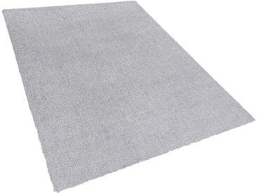 Teppich hellgrau 160 x 230 cm Shaggy DEMRE