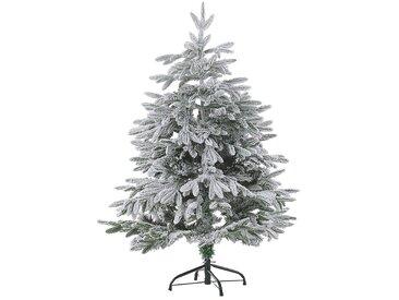 Künstlicher Weihnachtsbaum schneebedeckt 120 cm weiß BASSIE