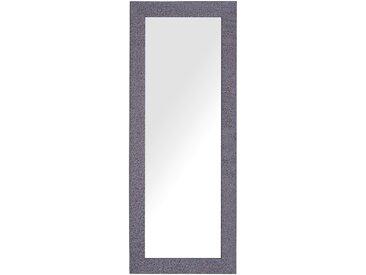 Wandspiegel grau / lila rechteckig 50 x 130 cm LILAS