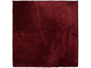 Teppich dunkelrot 200 x 200 cm Shaggy EVREN