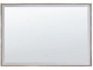 Badspiegel mit LED-Beleuchtung rechteckig 80 x 60 cm ARGENS