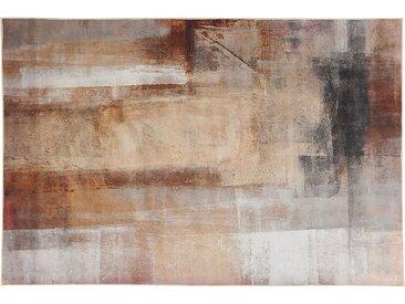 Teppich beige 140 x 200 cm Kurzflor TRABZON