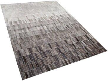 Teppich Kuhfell helles Beige / dunkelbraun 160 x 230 cm Patchwork HINIS