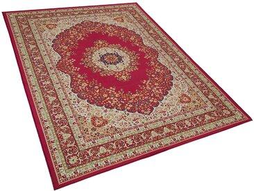 Teppich rot 160 x 230 cm Kurzflor KARAMAN