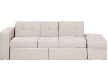 Sofa mit Schlaffunktion beige FALSTER