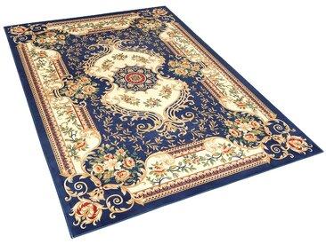 Teppich dunkelblau 140 x 200 cm Kurzflor GAZIANTEP