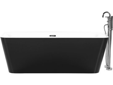 Badewanne schwarz rechteckig 170 x 80 cm HASSEL