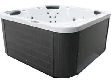 Whirlpool silber Outdoor 200 x 200 cm SANREMO