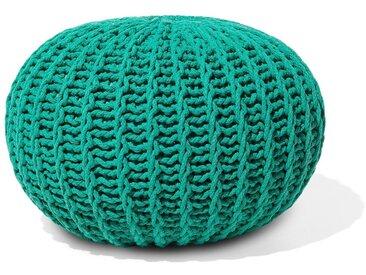 Pouf smaragdgrün ø 50 cm CONRAD II
