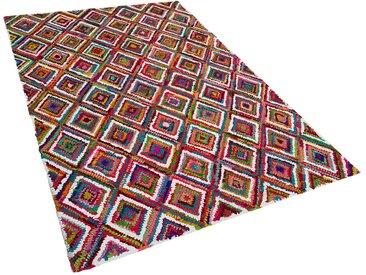 Teppich bunt 140 x 200 cm Hochflor KAISERI