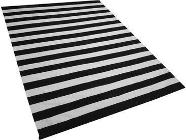Outdoor Teppich schwarz-weiß 160 x 230 cm TAVAS