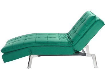 Chaiselongue Samtstoff smaragdgrün verstellbar LOIRET