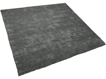Teppich dunkelgrau 200 x 200 cm Shaggy DEMRE