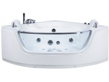 Whirlpool-Badewanne Eckmodell mit LED 150 cm MANGLE