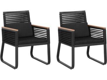 Gartenstuhl schwarz 2er Set CANETTO