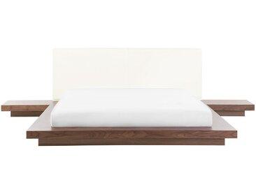 Wasserbett Holzfarbton 160 x 200 cm ZEN