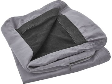 Sofabezug für 3-Sitzer BERNES Samtstoff grau